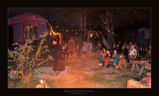 soirée flamenco au campement roulotte papillotte